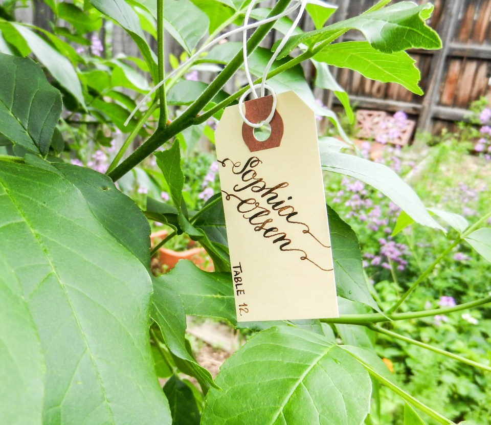 Manila Wedding Escort Tags | The Postman's Knock