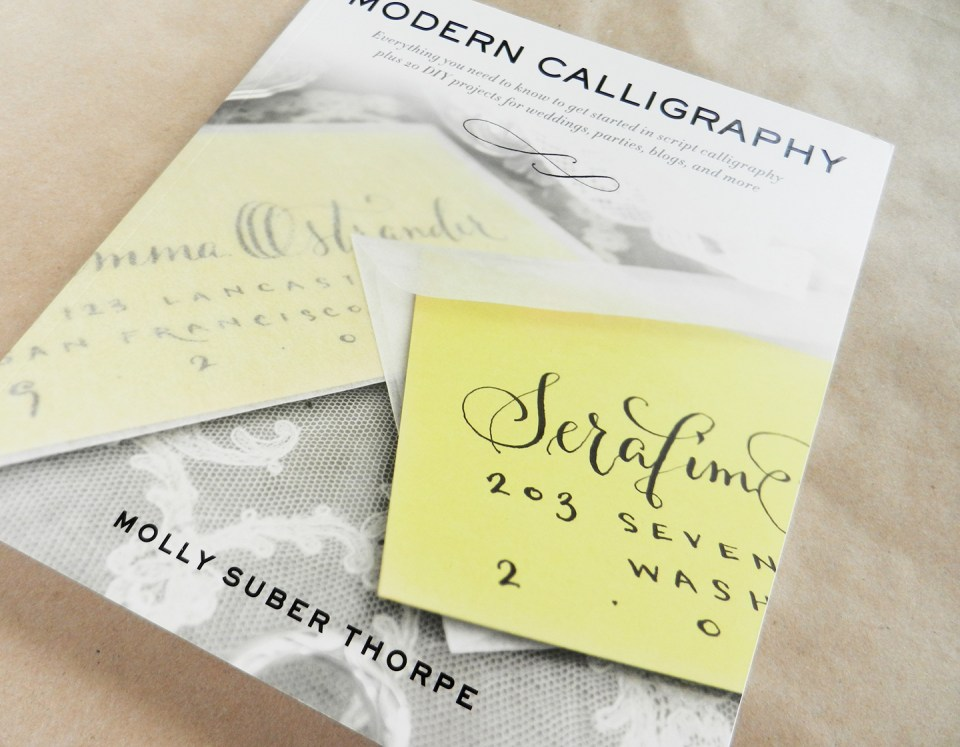 Modern calligraphy by molly suber thorpe book review