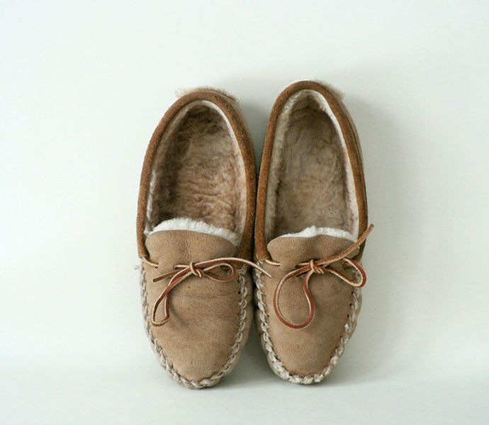 Shearling Moccasins | The Postman's Knock