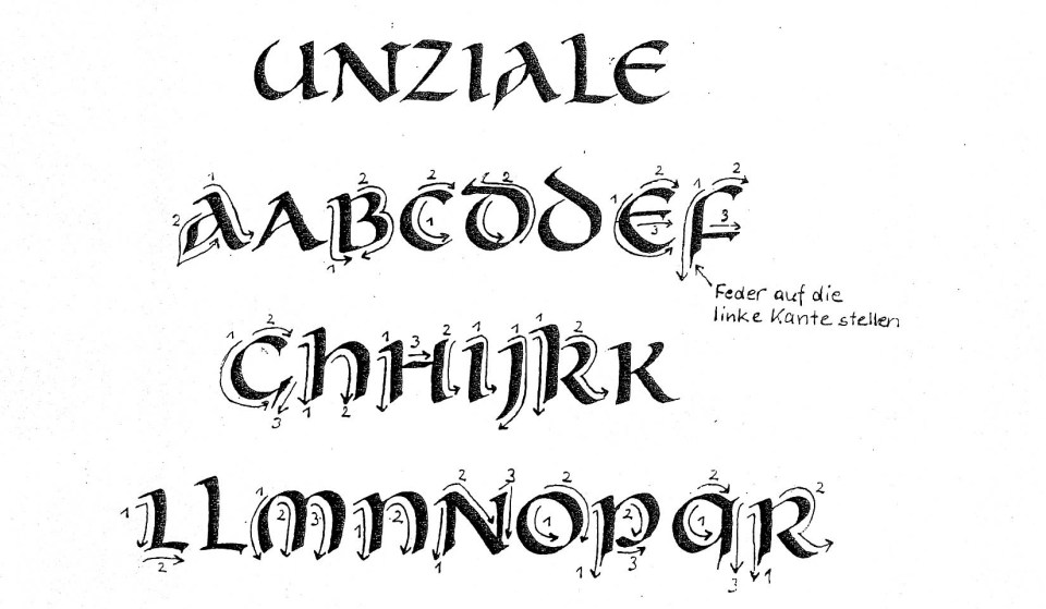 Interview With Uncial Script Master Albrecht Clauss