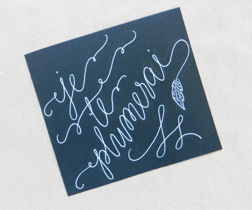 White Faux Calligraphy Tutorial | The Postman's Knock