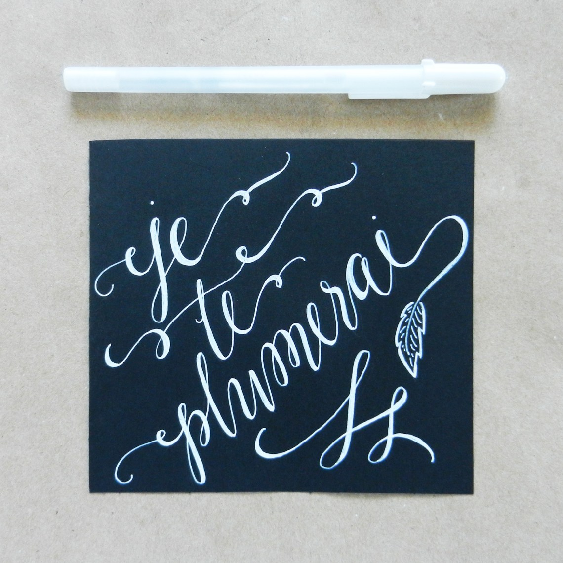 White Faux Calligraphy Tutorial The Postman 39 S Knock