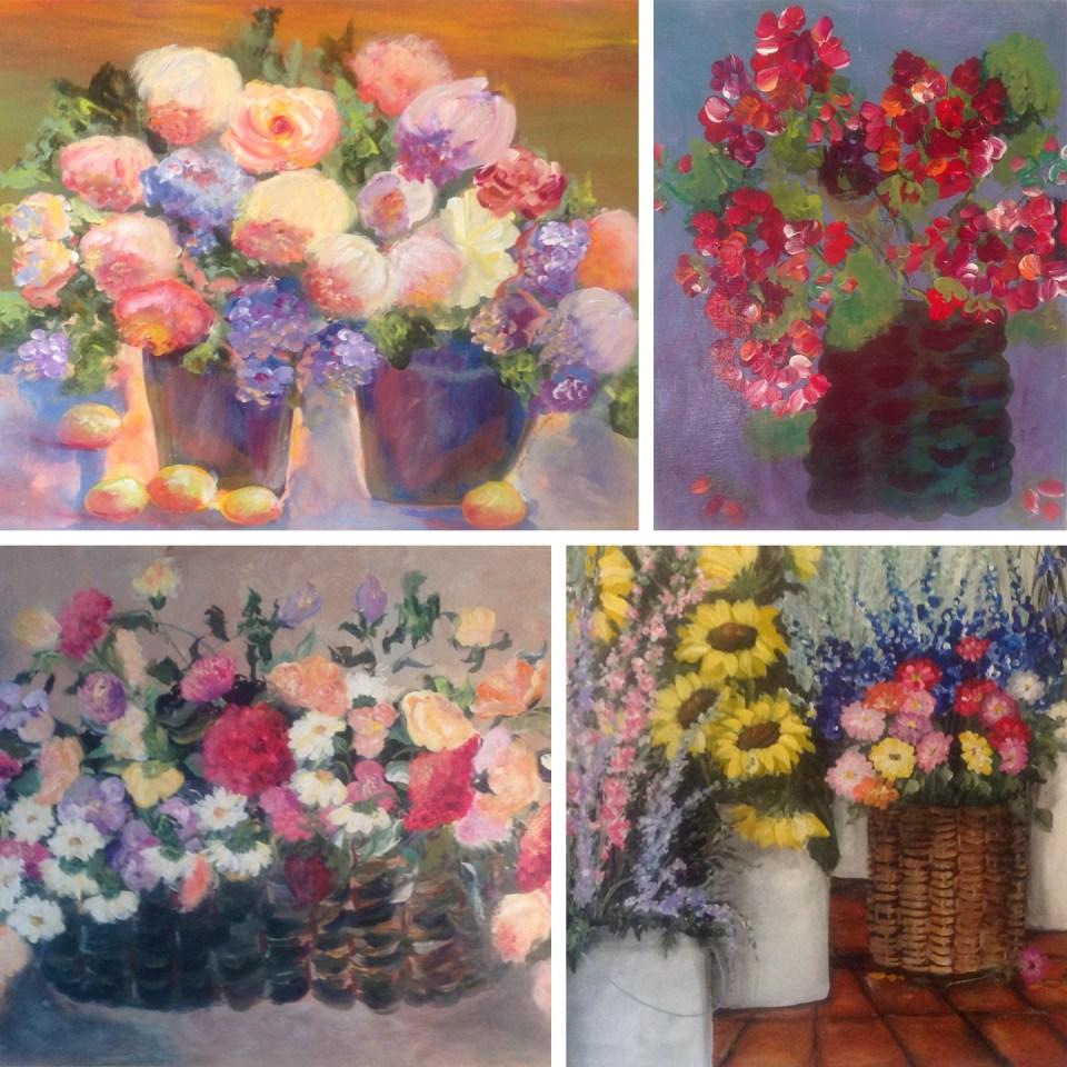 Flower Paintings by Jan McKinney   The Postman's Knock