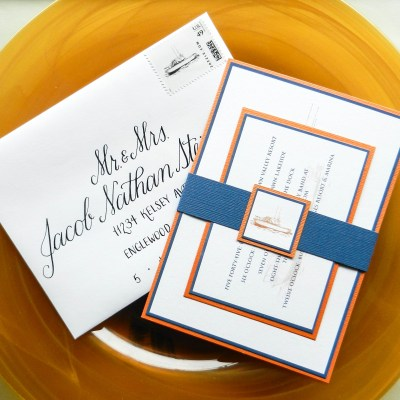 Nautical Thermography Invitation Suite