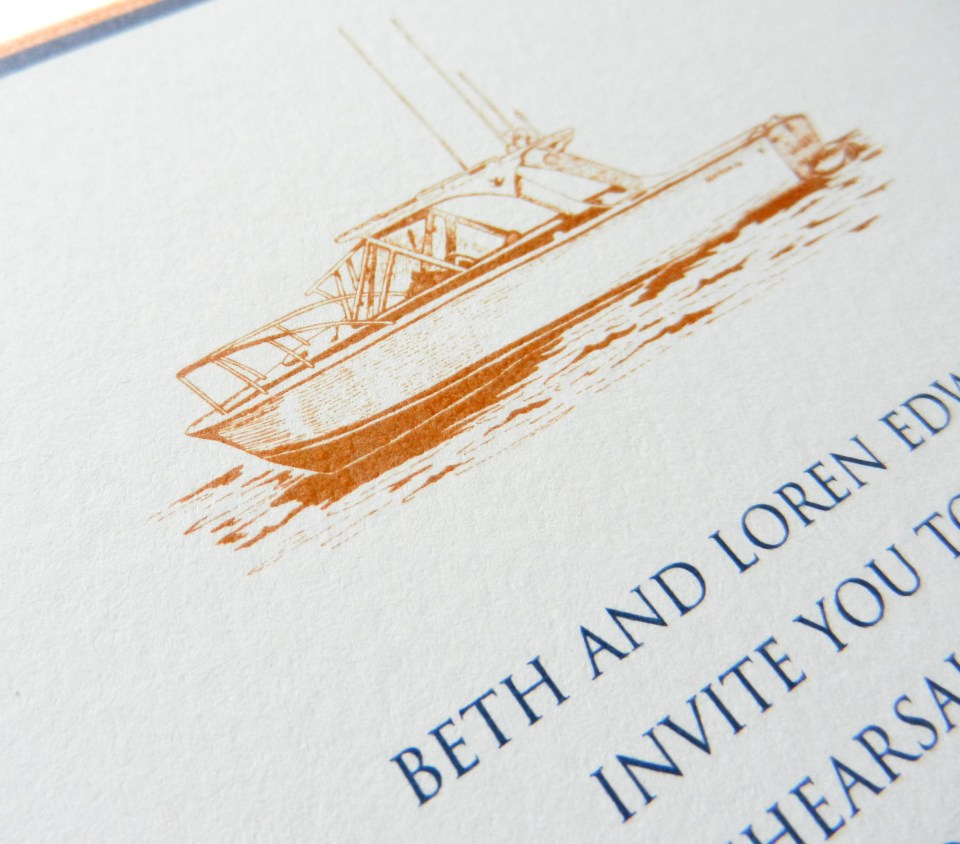 Thermography Invitation Suite | The Postman's Knock