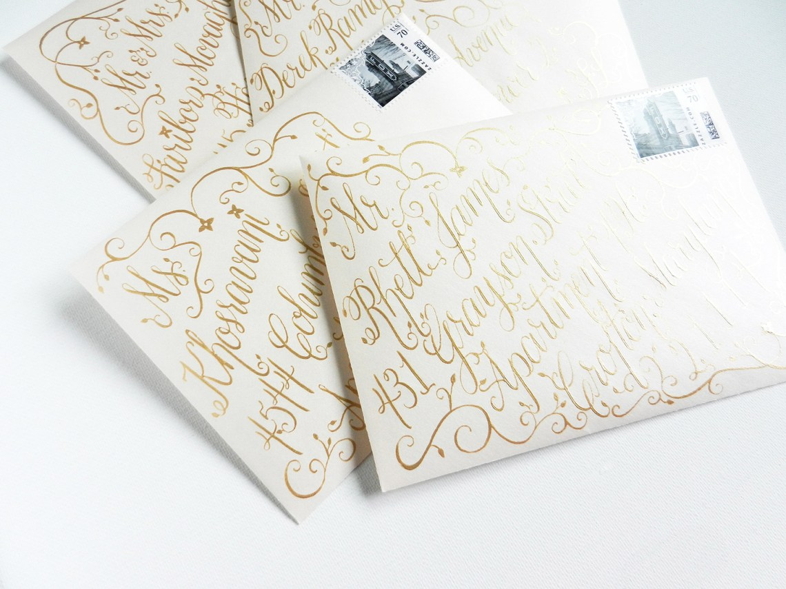 Persian-Inspired Gold Foil Wedding Invitation Suite   The Postman's Knock