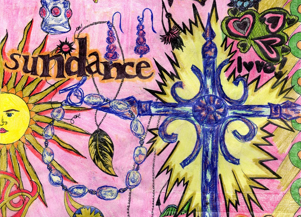 Sketchbook Collaboration Page   The Postman's Knock