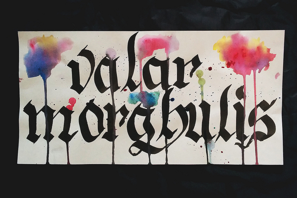 Watercolor  Calligraphy Desktop Wallpaper The Postmans