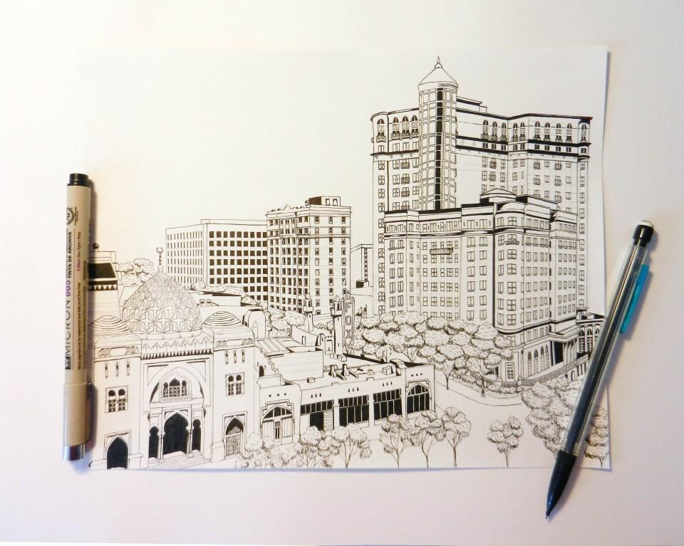 Atlanta Cityscape Illustration | The Postman's Knock