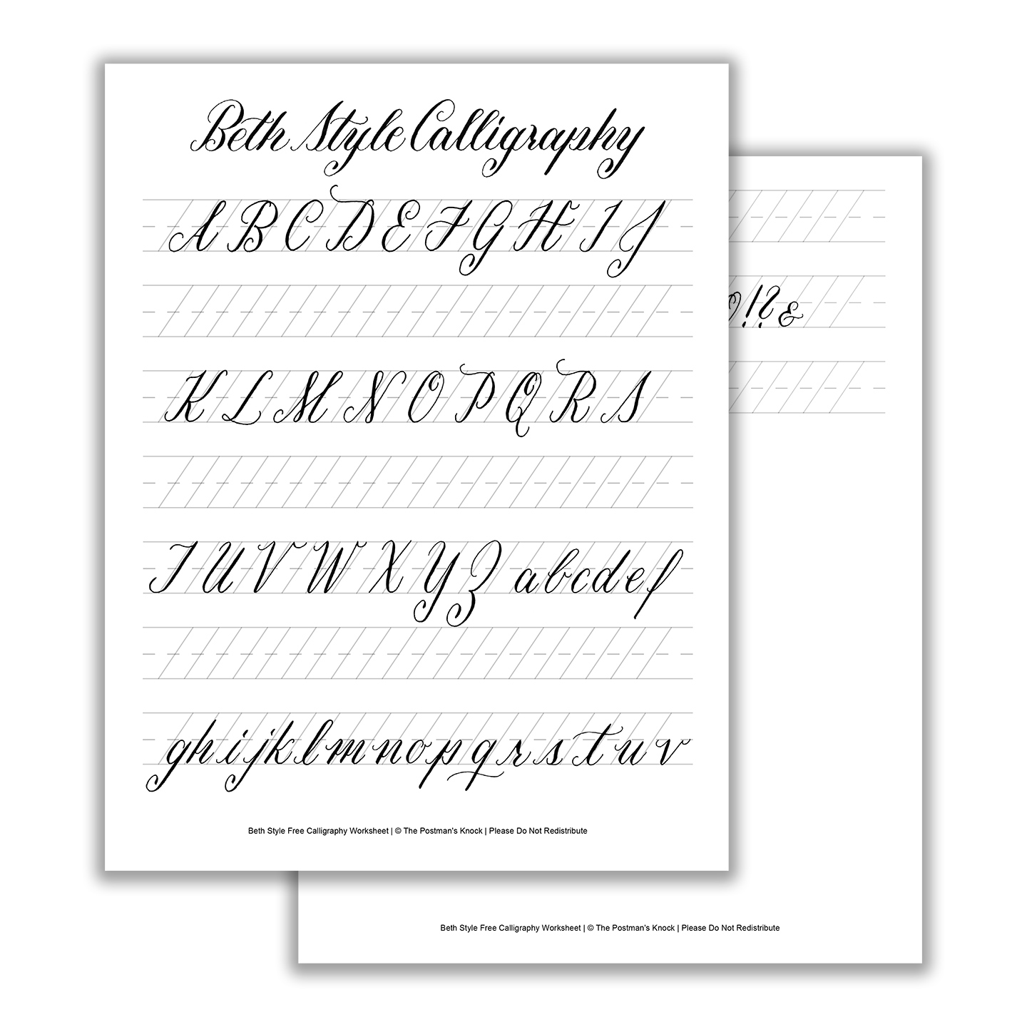 Calligraphy Letters For Beginners Worksheets