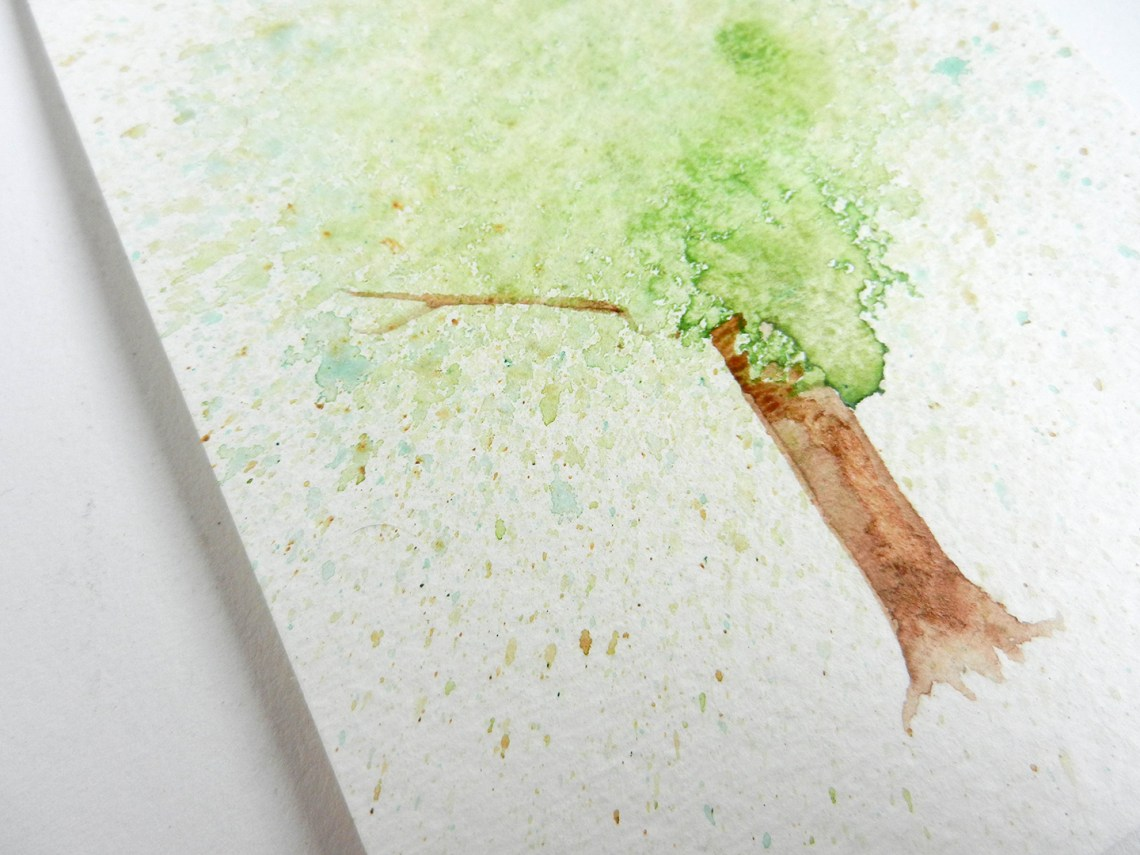 Spatter Watercolor Tree Tutorial | The Postman's Knock