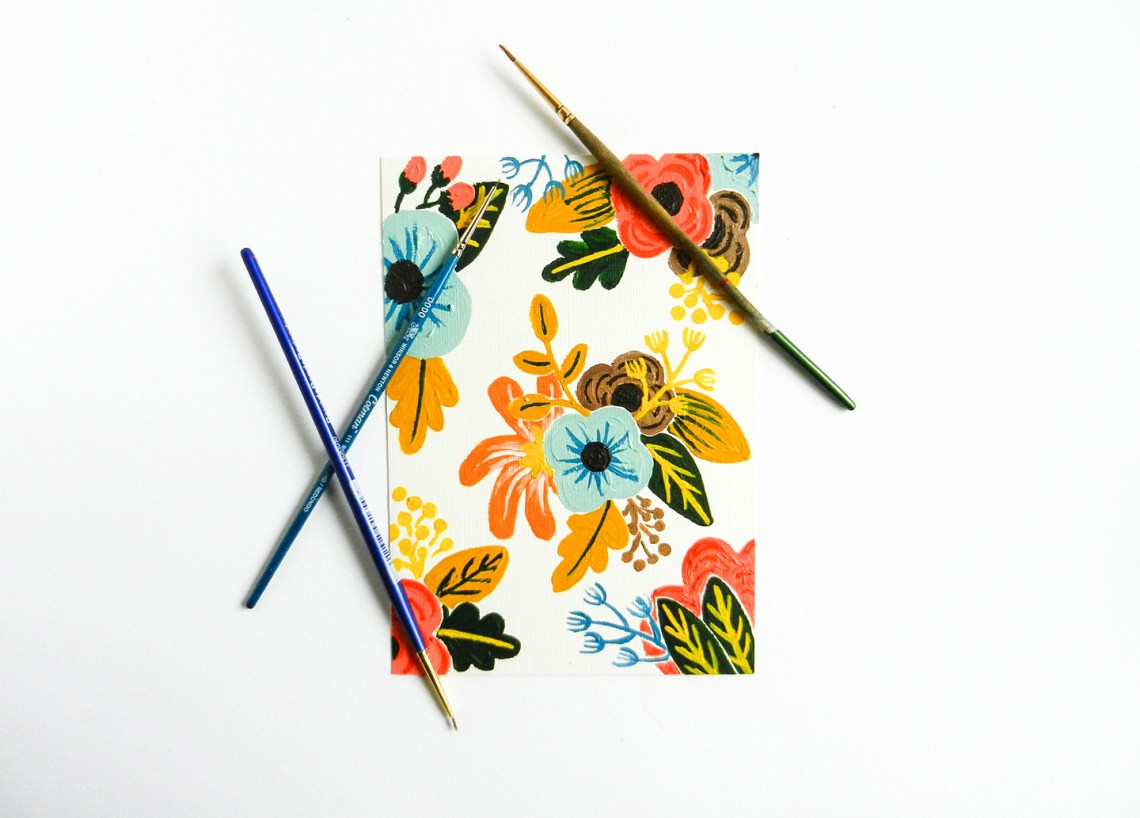 Retro Painted Flowers Tutorial The Postmans Knock