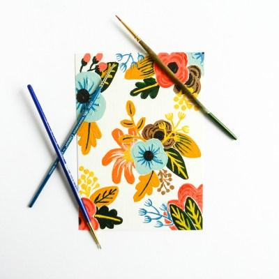 Retro Painted Flowers Tutorial