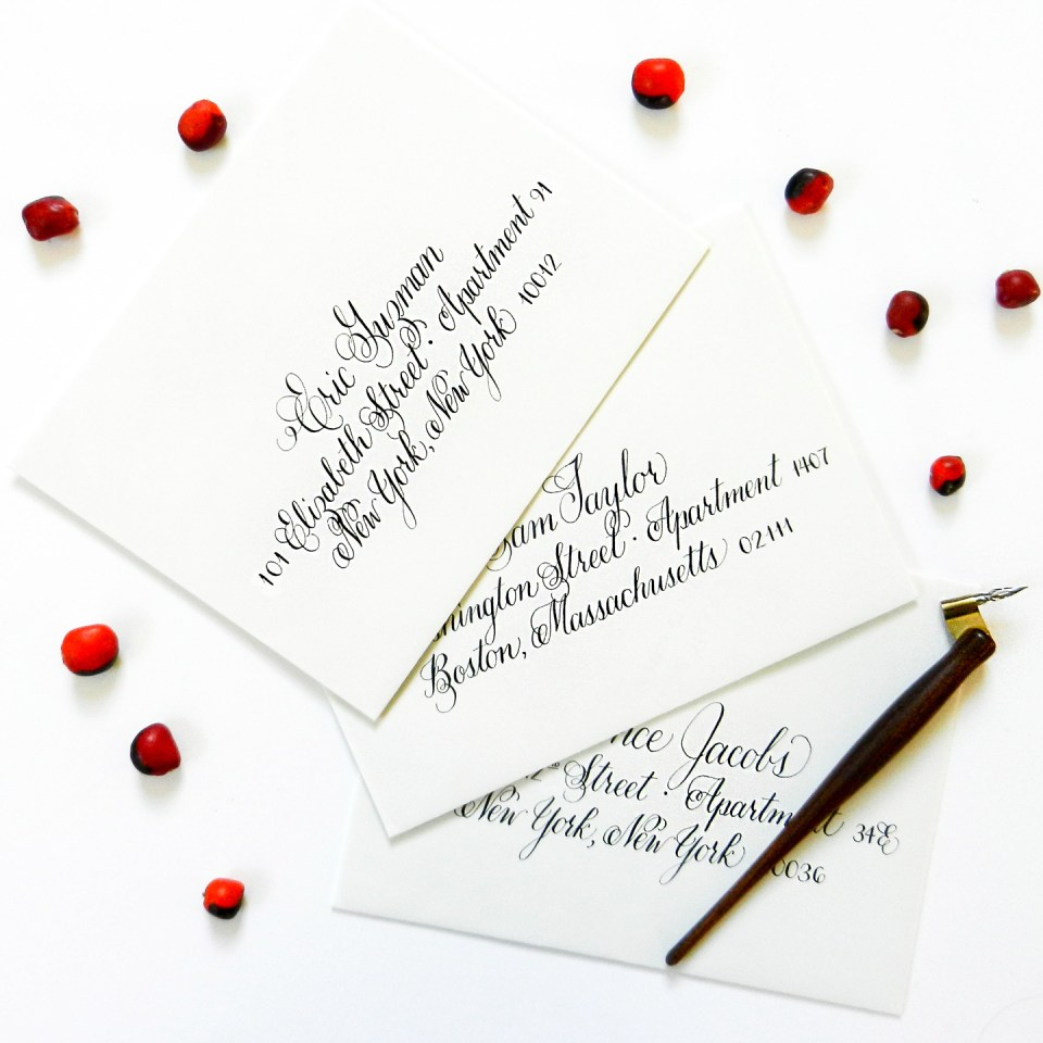 Janet Style Envelope Calligraphy | The Postman's Knock