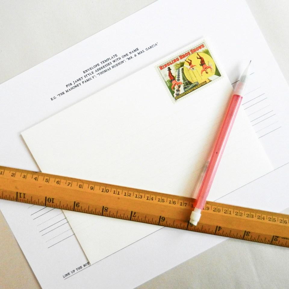 addressing envelopes for an event the postman u0027s knock