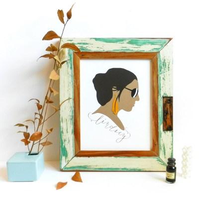 Paper Profile Silhouette Tutorial