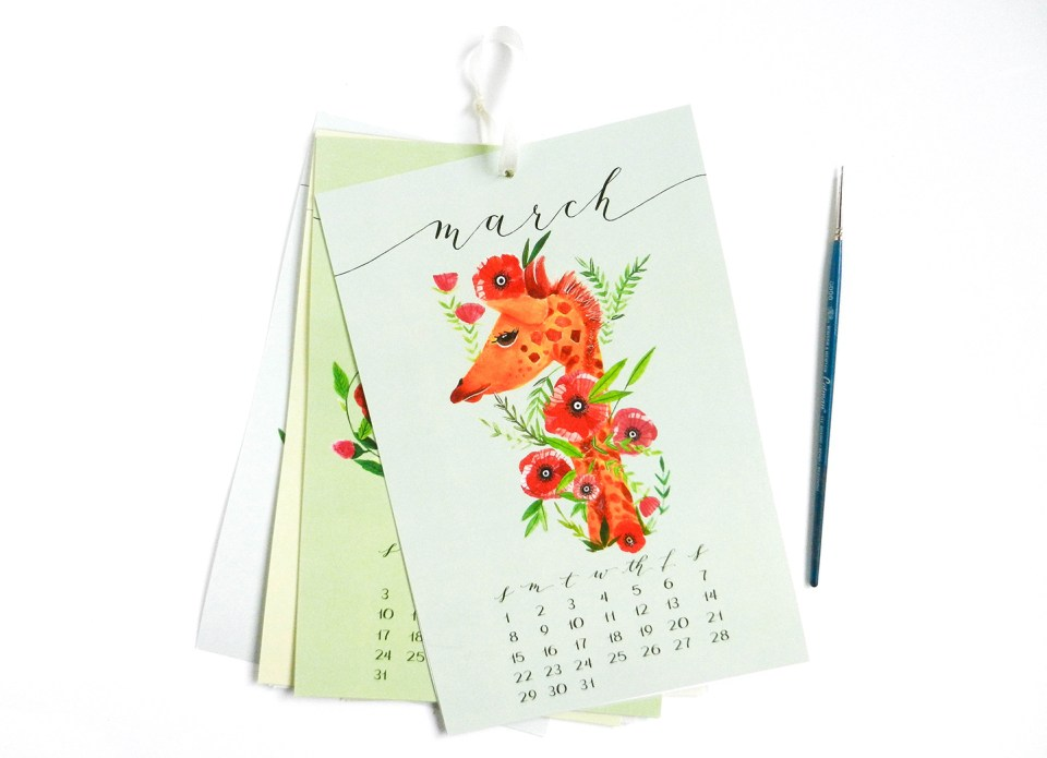 "6""x9"" Hanging Calendar 