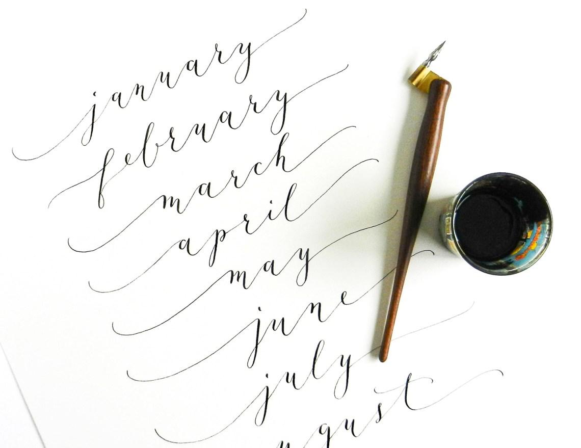 Calligraphy for 2015 Calendar | The Postman's Knock