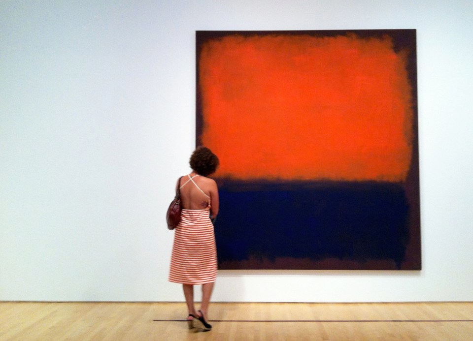 Woman with a Rothko Painting | The Postman's Knock via Eng.