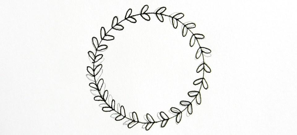 round flower border clip art