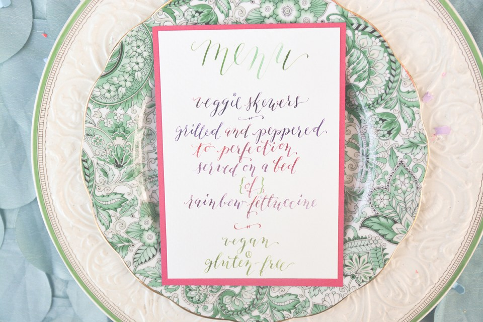 Groovy Wedding Styled Shoot Calligraphy + Illustration | The Postman's Knock