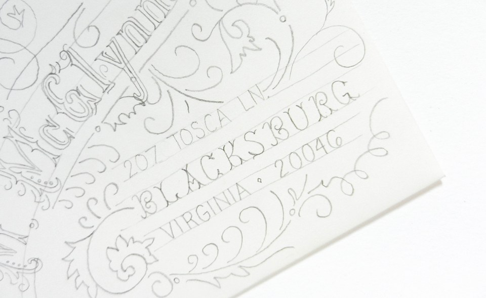 Typography Art Envelope Tutorial | The Postman's Knock