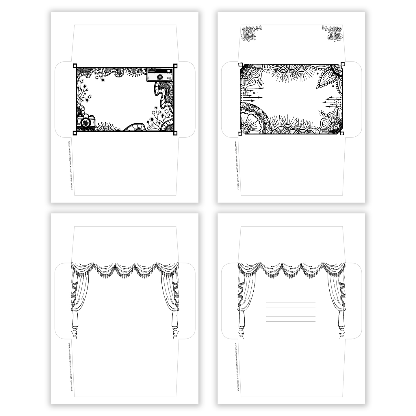 image about Printable Envelope identified as Printable Deliver Artwork Envelope Templates