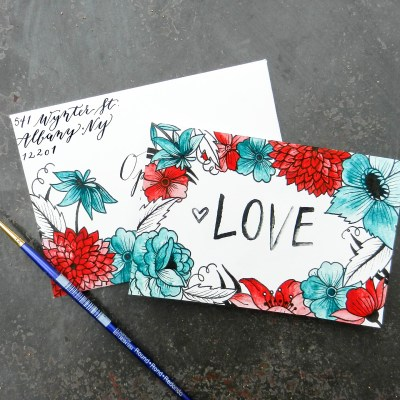 Printable Valentine's Day Card + Envelope