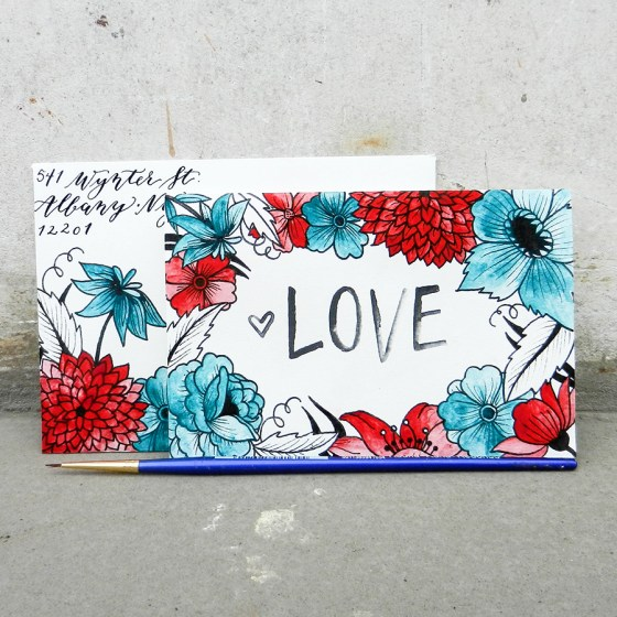 Printable Valentine's Day Card and Envelope   The Postman's Knock