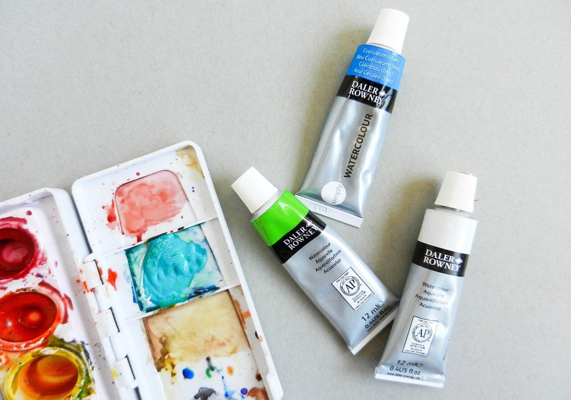 How to Paint Watercolor Jewels | The Postman's Knock