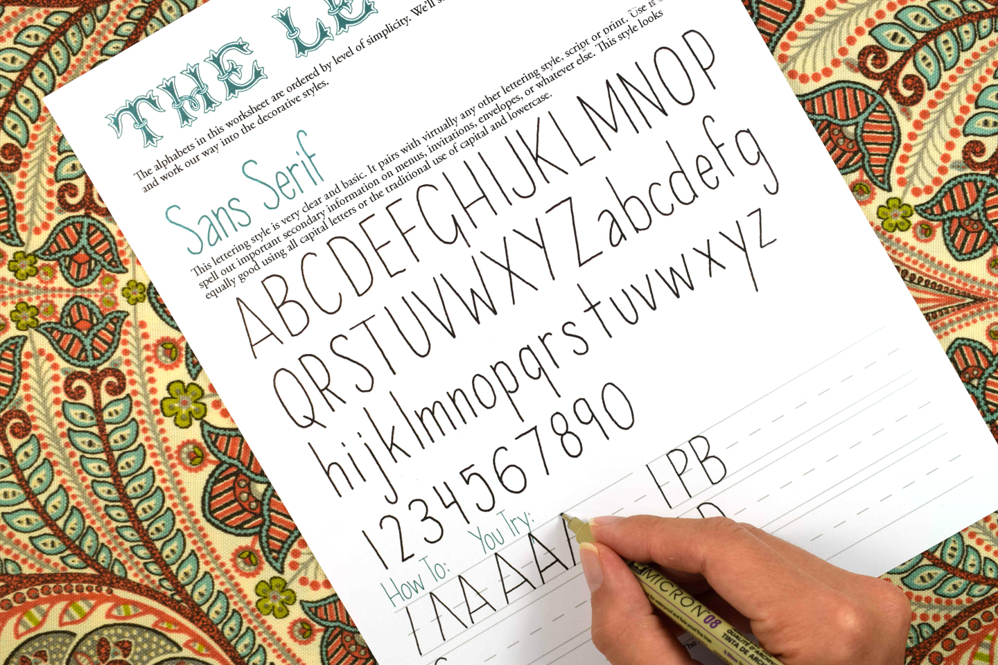 Practicing Sans Serif Hand Lettering   The Postman's Knock