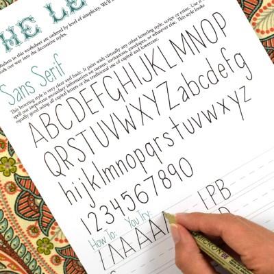 Rediscovering Hand-Lettering: Why TPK's Original Hand-Lettering Worksheet Set is Awesome