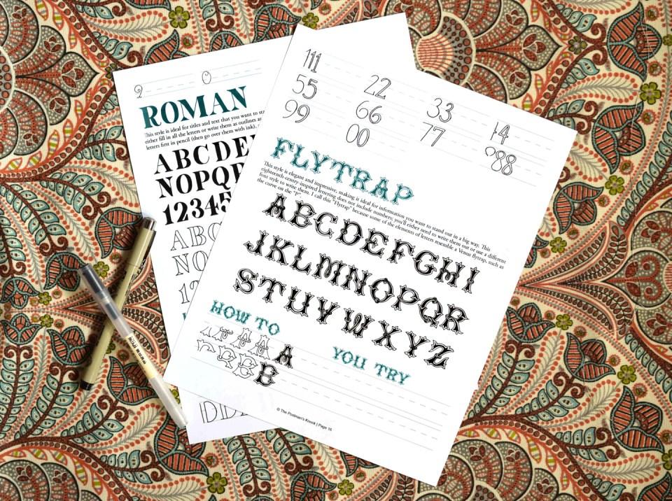 Flytrap + Roman Hand-Lettering Styles | The Postman's Knock
