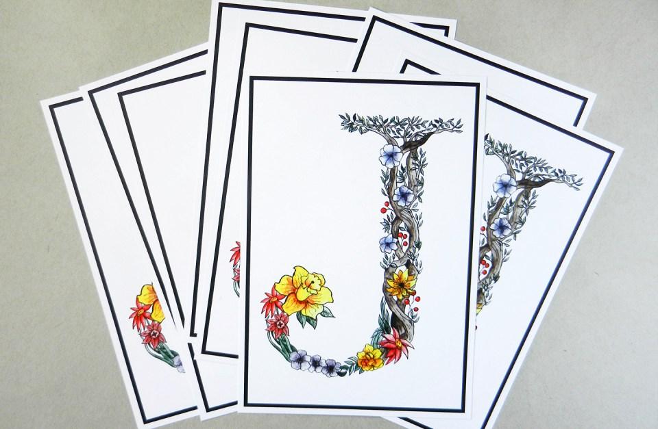 Botanical Letter Tutorial   The Postman's Knock