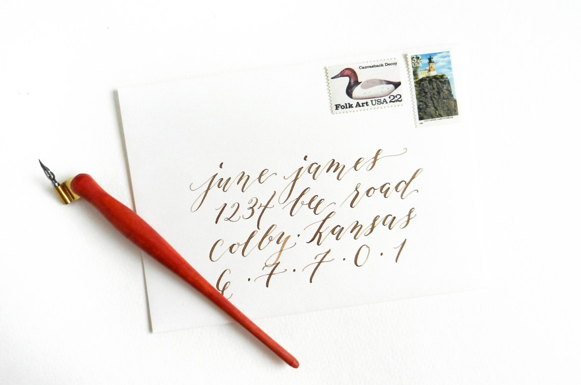 Calligraphed Envelopes | The Postman's Knock