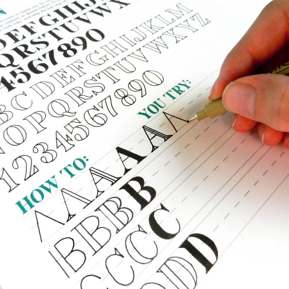 A guide to tpk calligraphy styles beth janet hand