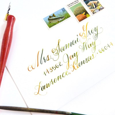 Watercolor Calligraphy Tutorial
