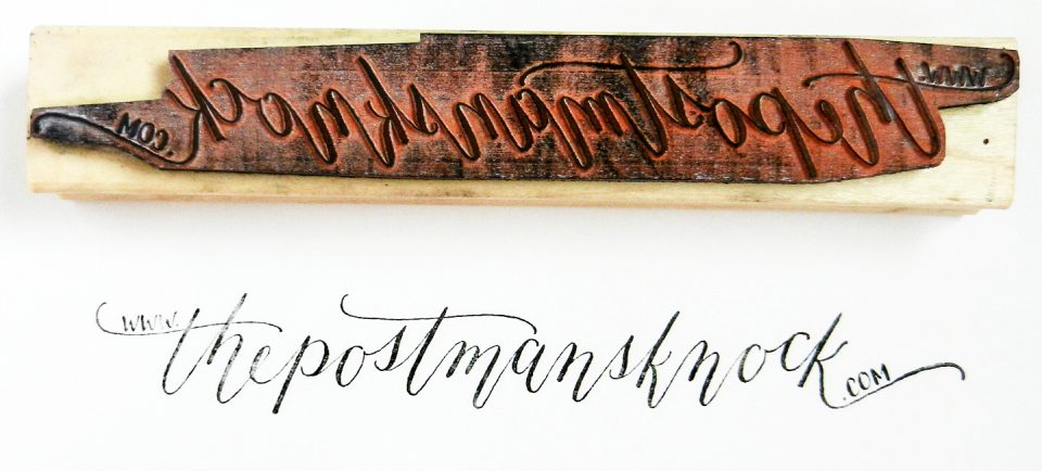 Calligraphed Rubber Stamp | The Postman's Knock