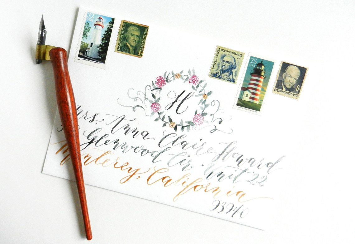 Beautiful Watercolor Envelope | The Postman's Knock