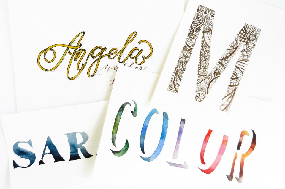 Creative Hand Lettering Tutorials Part II