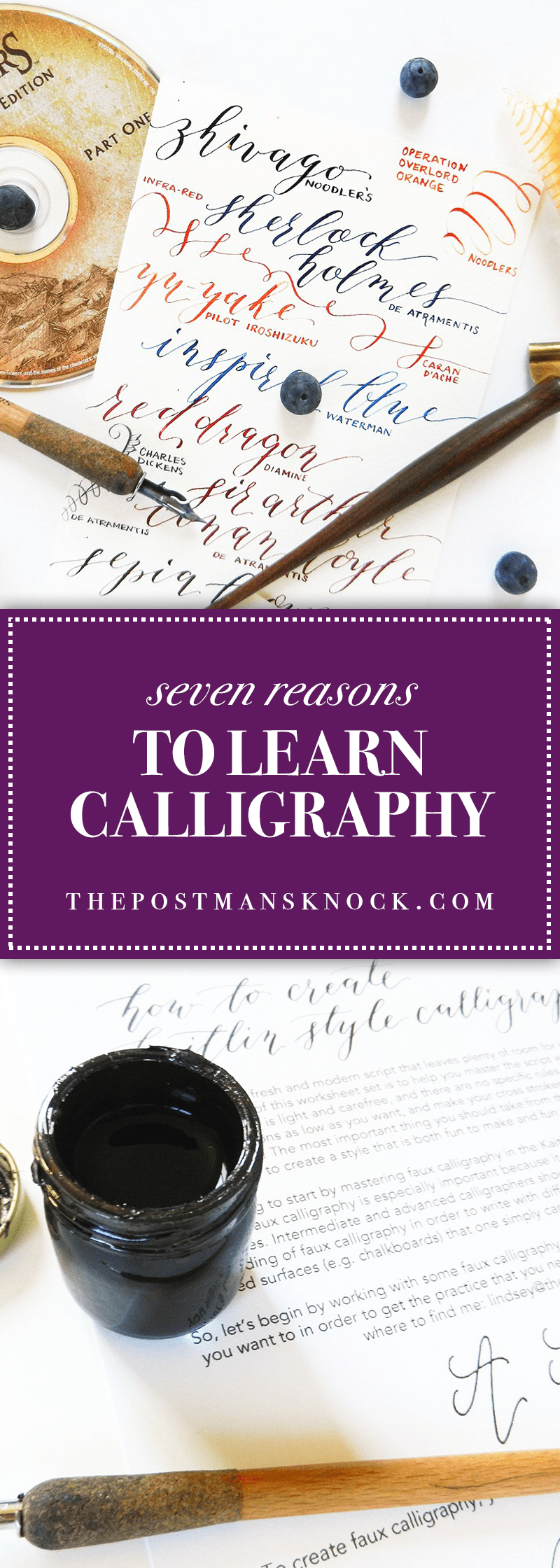 Seven reasons to learn calligraphy the postman s knock