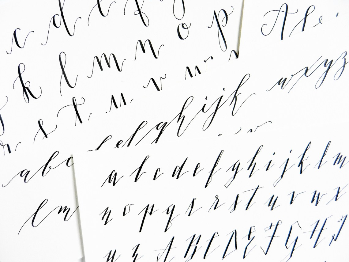 5 Calligraphy Variation Techniques + A Surprise Worksheet | The Postman's Knock
