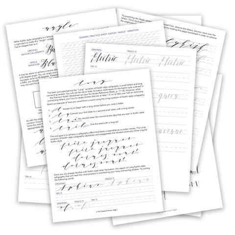 Premium Kaitlin Worksheet Add-On: Style Variations   The Postman's Knock
