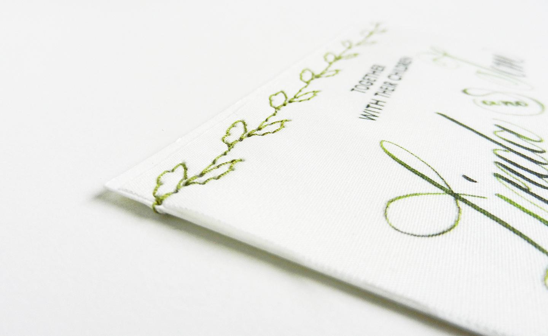 Crane Wedding Invitations 81 Superb DIY Fabric Wedding Invitations