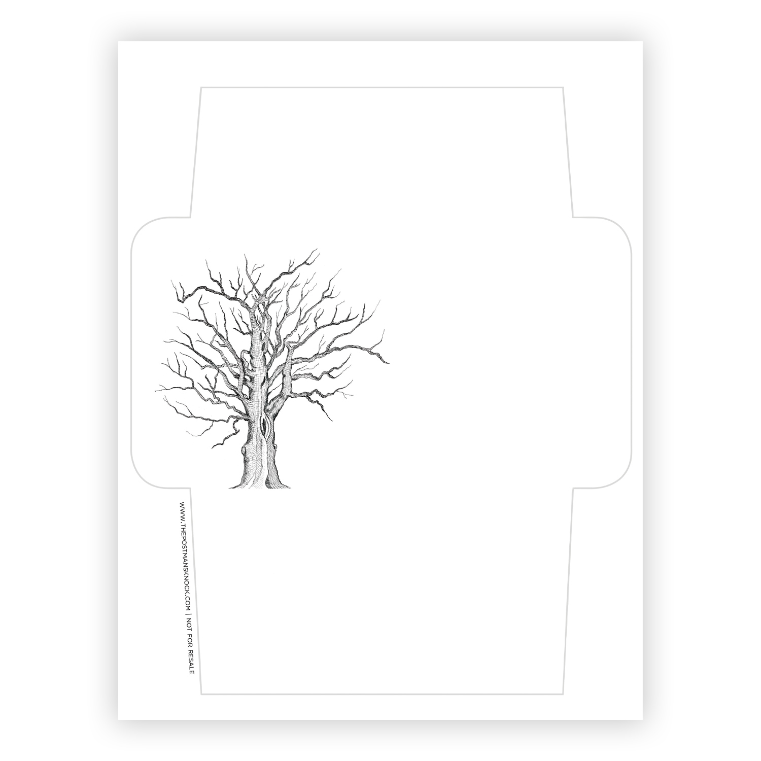 graphic about Free Printable Envelope Templates known as No cost Printable Envelope Template - Tree