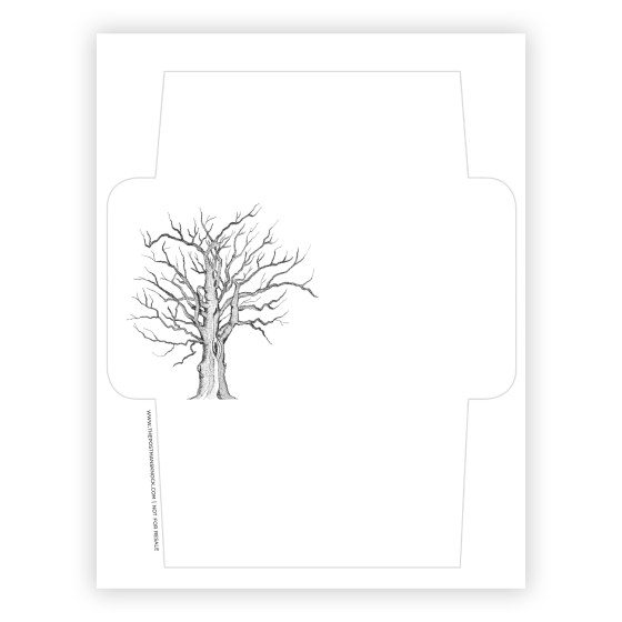 Free Printable Envelope Template - Tree | The Postman's Knock
