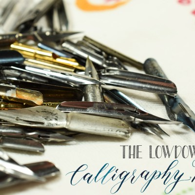 The Lowdown on Calligraphy Nibs
