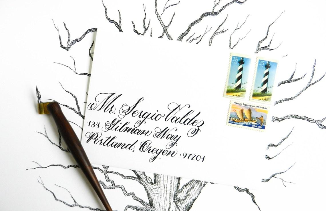 Addressing Envelopes for an Event | The Postman's Knock