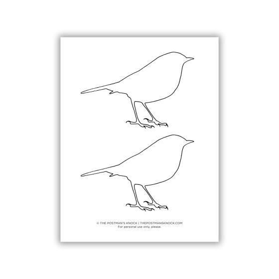 Printable Bluebird Outline   The Postman's Knock