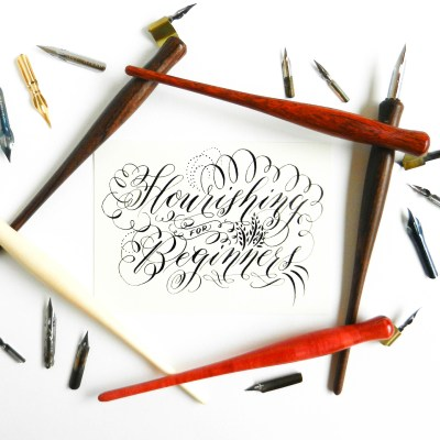 Calligraphy Flourishing for Beginners + Free Worksheet